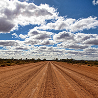 outback Australian dirt road