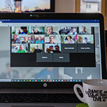 image of people meeting on computer